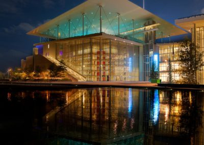 Mirroring Stavros Niarchos Cultural Center Athens