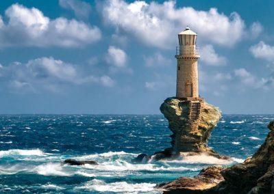 Lighthouse Tourlitis Andros
