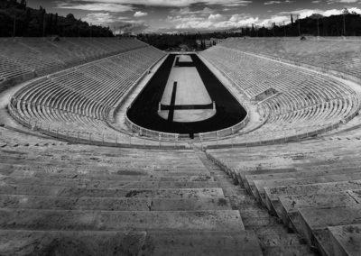 Panathenaic Stadium Athens BW
